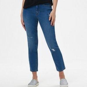Denim & Co. Petite Classic Denim Ankle Jeans 192